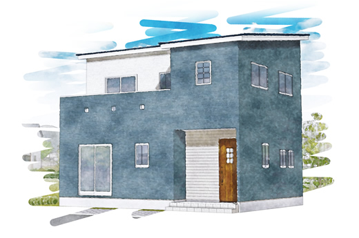ZEH搭載の家。